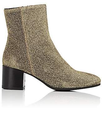 Barneys New York WOMEN'S LUREX® KNIT ANKLE BOOTS
