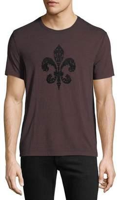 John Varvatos Men's Fleur de Lis Graphic T-Shirt