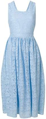 Blugirl sleeveless lace midi dress