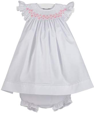 Luli & Me Smocked Bishop-Dress & Bloomers