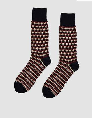 Nordic Chup Forest Knit Socks in Navy