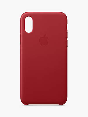 Apple Leather Case for iPhone XS (PRODUCT)Red