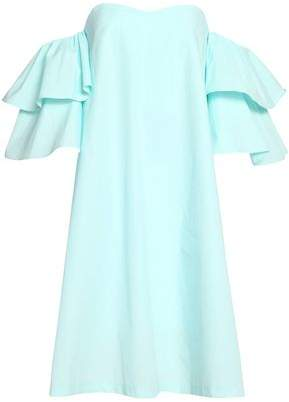Claudie Pierlot Rakam Off-The-Shoulder Cotton-Poplin Dress
