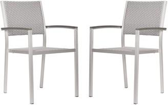 ZUO Vive Metropolitan 2-pc. Dining Arm Chair Set - Outdoor