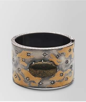 Bottega Veneta Natural Antique Silver Stellular Cuff