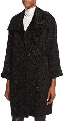 Caroline Rose Playful Persian Faux-Fur Coat