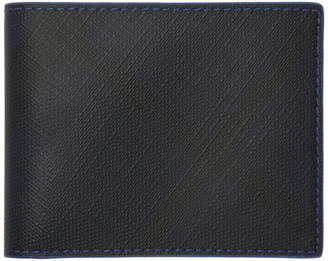 Burberry Navy London Check Hipfold Wallet