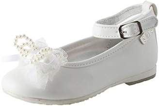 Laura Biagiotti Dolls Girls' L-3407 Ankle Strap Ballet Flats, (White 3911), 13UK Child
