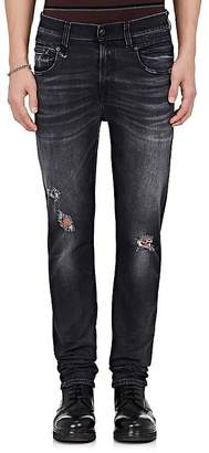R 13 Men's Boy Distressed Slim Jeans