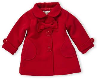 American Widgeon (Newborn/Infant Girls) Red Bow Front Coat