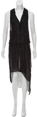 Helmut Lang Semi-Sheer Sleeveless Dress