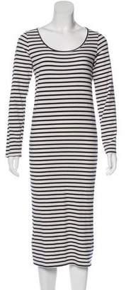 Monrow Striped Midi Dress