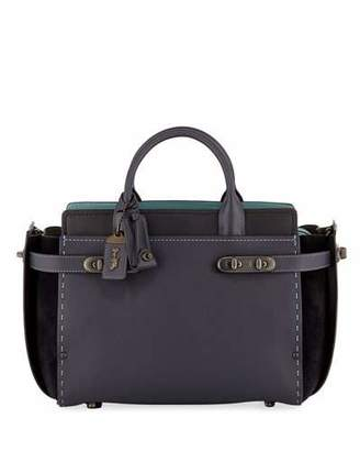 SWAGGER Coach 1941 27 Mixed-Leather Satchel Bag