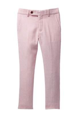 Isaac Mizrahi Slim Fit Textured Linen Blend Pant (Toddler & Little Boys)