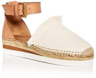 See by Chloe Women's Ankle Strap D'Orsay Espadrille Platform Sandals