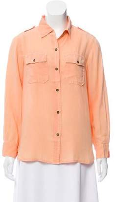 Current/Elliott Long Sleeve Button Down Top