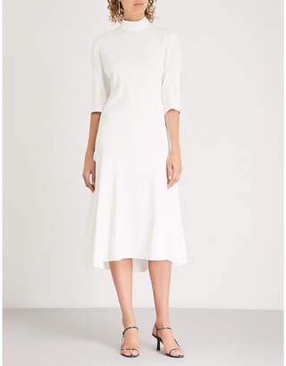 Sabrina KHAITE cutout crepe midi dress