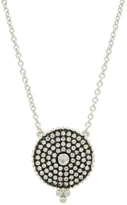 Freida Rothman Pave Disc Pendant Necklace