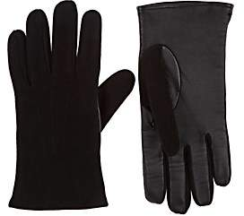 Barneys New York Men's Tech-Smart Suede Gloves-Black
