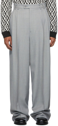 Gucci Grey Vintage Sharkskin Trousers