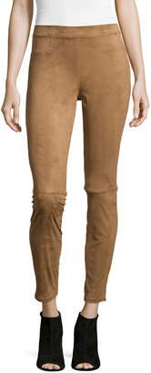 Max Studio Faux-Suede Pull-On Leggings, Vicuna