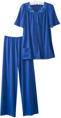 Shadowline Women's Petals Short Sleeve Pajama