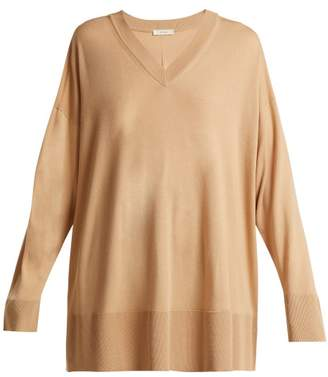 The Row Sabrinah Oversized Fine Wool Sweater - Womens - Camel