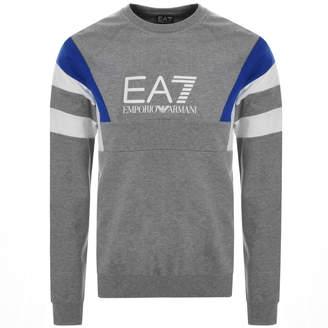 Emporio Armani Ea7 EA7 Logo Sweatshirt Grey