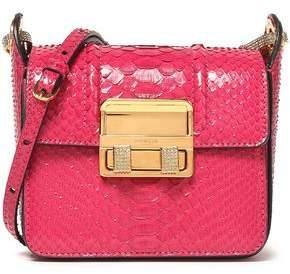 Lanvin Embellished Python Shoulder Bag
