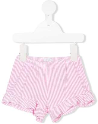 Il Gufo striped ruffled shorts