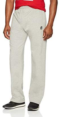 Flying Ace Men's Open Bottom Fleece Sweatpant With Logo Embroidery