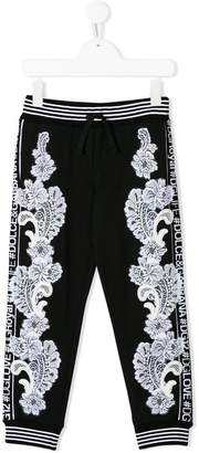 Dolce & Gabbana lace detail tracksuit bottoms