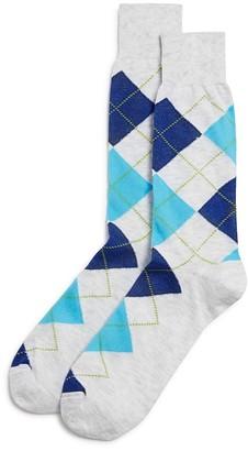 The Men's Store at Bloomingdale's Argyle Cotton Blend Dress Socks - 100% Exclusive $12 thestylecure.com