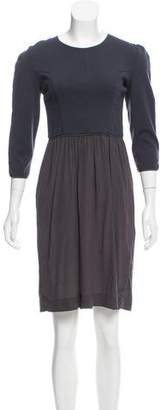 Narciso Rodriguez Wool & Silk-Blend A-Line Dress