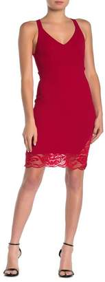 Velvet Torch Lace Racerback Sheath Dress