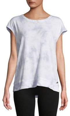 Calvin Klein Lace-Up Back Tie-Dyed Tee