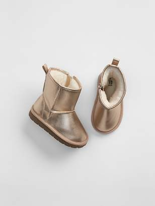 Gap Metallic Sherpa Booties