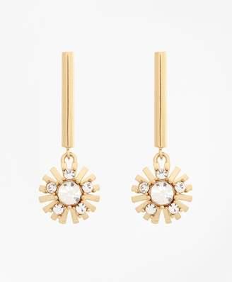 Brooks Brothers Crystal Starburst Earrings