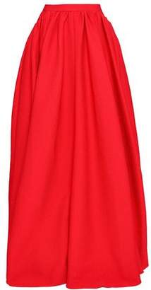 Emilia Wickstead Pleated Cloqué Maxi Skirt