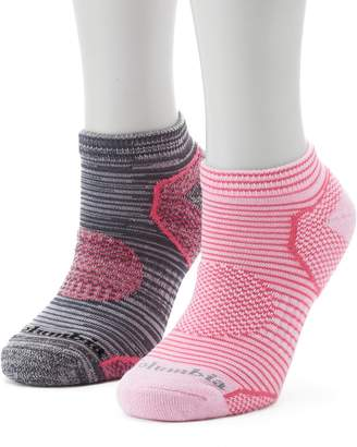 Columbia Women's 2-Pack Space-Dyed Balance Point Low-Cut Walking Socks