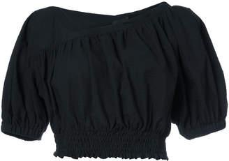 Rachel Comey cropped gathered hem blouse
