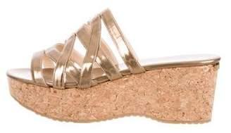 Jimmy Choo Leather Wedge Sandals