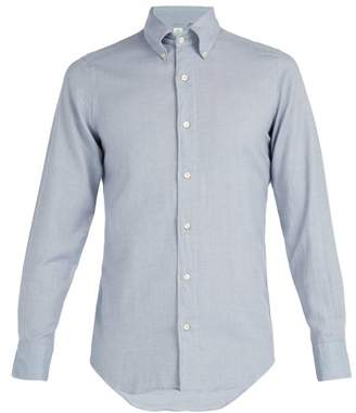 Finamore 1925 - Cotton Flannel Shirt - Mens - Grey
