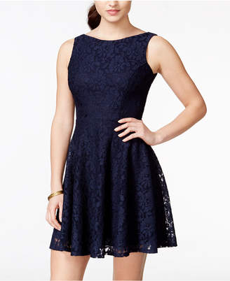 Speechless Juniors' Lace Fit & Flare Tank Dress, Created for Macy's $59 thestylecure.com