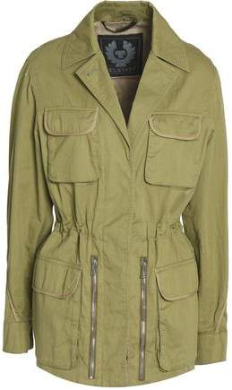 Gathered Cotton-Twill Jacket
