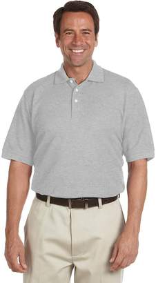 Chestnut Hill Men's Performance Plus Piqu Polo - GREY HEATHER - 4XL