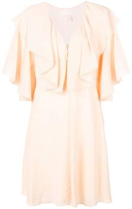 Chloé deep frill dress