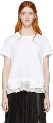 Sacai White Cotton Jersey T-Shirt