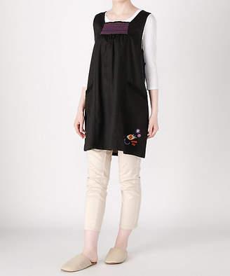Anna Sui (アナ スイ) - [ANNA SUI] スモッキング×猫刺繍 背付き(62343)