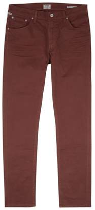Citizens of Humanity Bowery Burgundy Slim-leg Jeans